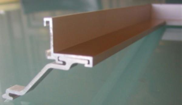 Alu-Einbaurahmen mit Anker für Mattenhöhe 20 oder 25 mm